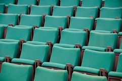 The rows of green seats Stock Photos