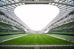 Rows of green seats in an empty stadium Royalty Free Stock Image