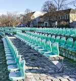 Rows of green seats Royalty Free Stock Image