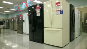 Rows of home appliance selling Stock Images