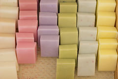 Rows Homemade Soap Stock Images