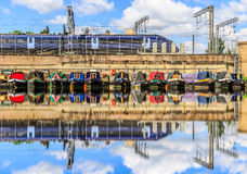 Rows of houseboats Royalty Free Stock Photography