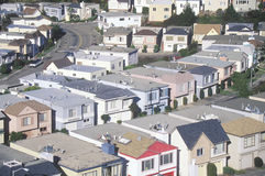 Rows of houses Stock Photo