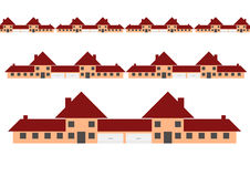 Rows of houses Royalty Free Stock Photo