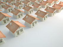 Rows of houses Royalty Free Stock Images