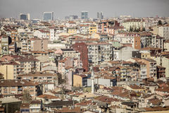 Rows of houses in Istanbul, Turkey Stock Photography
