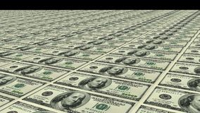 Rows of hundred dollar bills. Stock Photography