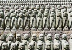 Rows of jizo statues Royalty Free Stock Photos