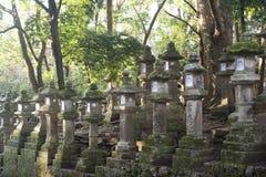 Rows of Kasuga Taisha Lanterns Royalty Free Stock Photo
