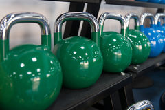 Rows Of Kettle Bell In The Gym Royalty Free Stock Image