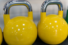 Rows Of Kettle Bell In The Gym Royalty Free Stock Photography