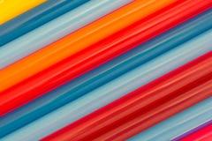 Rows of large smoothie milkshake straws Stock Photography