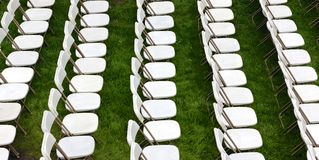 Rows of Law Chairs Royalty Free Stock Photography