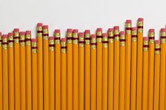Rows of lead pencils Stock Image