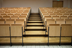 Rows in a lecture room. Seats in a lecture room Stock Images