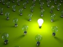 Rows of light bulbs Stock Photography