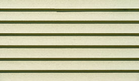 Rows of light green vinyl siding Stock Photos