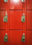Rows of locked lockers Royalty Free Stock Image