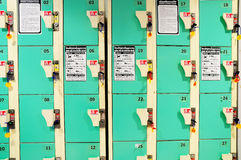 Rows of Lockers Royalty Free Stock Photography