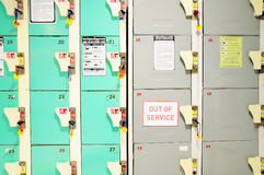 Rows of Lockers Royalty Free Stock Image