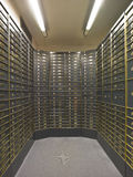 Rows of luxurious safe deposit boxes Stock Images