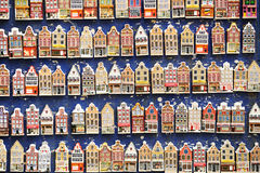 Rows of magnet souvenirs Royalty Free Stock Images