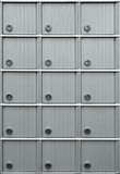 Rows of mailboxes Stock Images