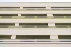 Rows of many white balconies Stock Photography