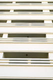 Rows of many white balconies Royalty Free Stock Image