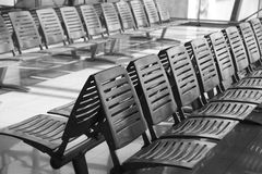 Rows of metal chairs Royalty Free Stock Photos
