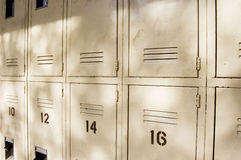 Rows of Metal Lockers Royalty Free Stock Photo