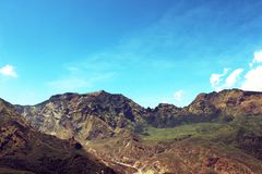 Asia Montain above sky stock photo