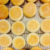 Rows of muffin on tray stock photography