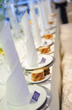 Rows of Napkins Stock Images