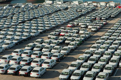 Rows of new cars Stock Photography