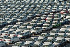 Rows of new cars Royalty Free Stock Image