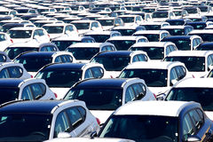 Rows of new cars Stock Photo