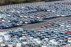 Rows of new cars - Reunion, France Stock Photography