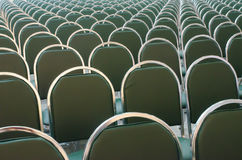 Rows of new chairs Stock Photos