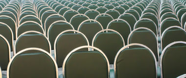 Rows of new chairs Stock Photo