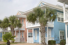 Rows of new wooden houses. Nice wooden houses in Florida, USA stock image