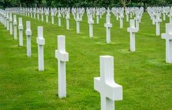 Rows of Normandy Graves Stock Photos