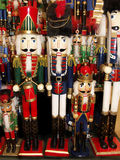 Rows of Nutcrackers Royalty Free Stock Images