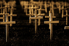 Rows Of Crosses Royalty Free Stock Photography