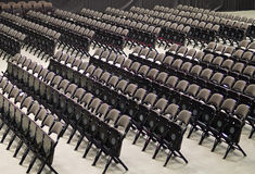 Rows Of Folding Chairs Royalty Free Stock Photography