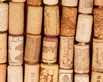 Rows Of Old Wine Corks Royalty Free Stock Photography