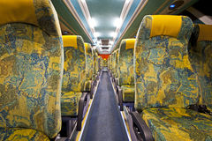 Rows Of Seats On A Bus Royalty Free Stock Photography