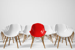 Free Rows Of White And Red Chairs, Front Royalty Free Stock Photos - 91509098