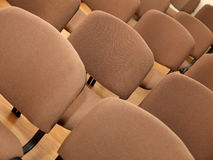 Rows of office chairs. Rows of empty office chairs in room Stock Photos