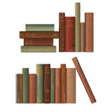 Rows of old books. Two rows of old books. Vector illustration Royalty Free Stock Photos